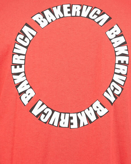 RED MENS CLOTHING RVCA TEES - RV-R106068-RED