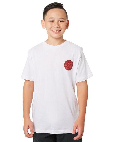 WHITE KIDS BOYS SANTA CRUZ TOPS - SC-YTA9191WHT