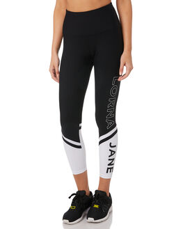 BLACK WHITE WOMENS CLOTHING LORNA JANE ACTIVEWEAR - 041944BLKWH