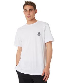 WHITE MENS CLOTHING RVCA TEES - R182055WHT