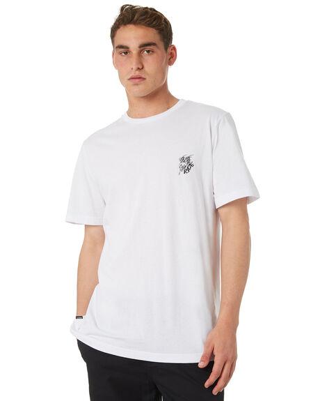 WHITE MENS CLOTHING RVCA TEES - R182055WHT