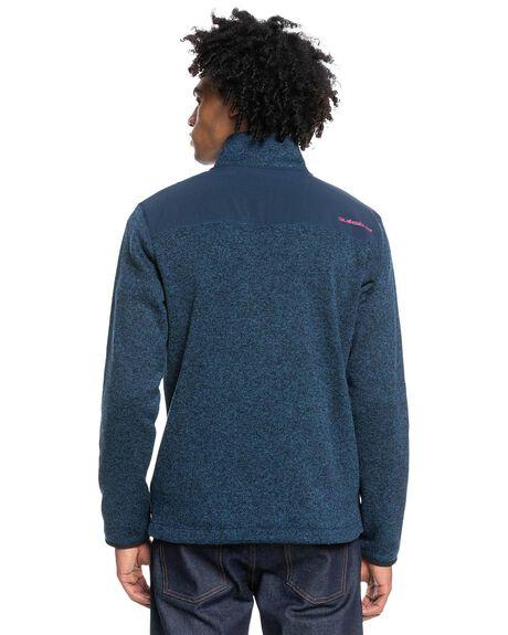 MIDNIGHT NAVY HEATHE MENS CLOTHING QUIKSILVER HOODIES + SWEATS - EQYFT04463-BSLH