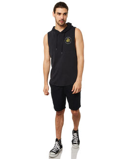 WASHED BLACK MENS CLOTHING SILENT THEORY SINGLETS - 4020003WBLK
