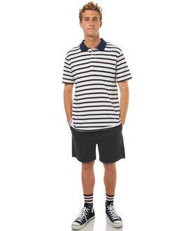 NAVY WHITE MENS CLOTHING RPM SHIRTS - 7SMT17BNWHT