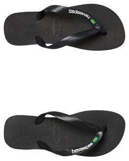 BLACK MENS FOOTWEAR HAVAIANAS THONGS - 41108501069