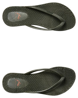 DARK OLIVE WOMENS FOOTWEAR RUSTY THONGS - FOL0317DAO