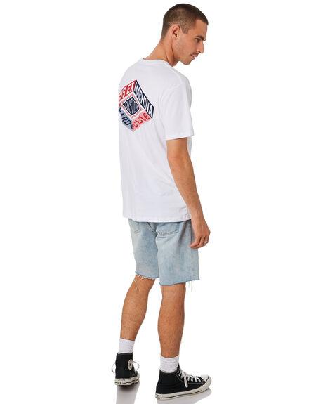 WHITE MENS CLOTHING DEUS EX MACHINA TEES - DMS91300BWHT