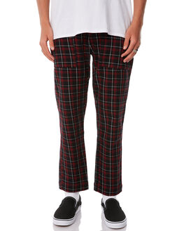 RED CHECK MENS CLOTHING THRILLS PANTS - TW8-402EZRED