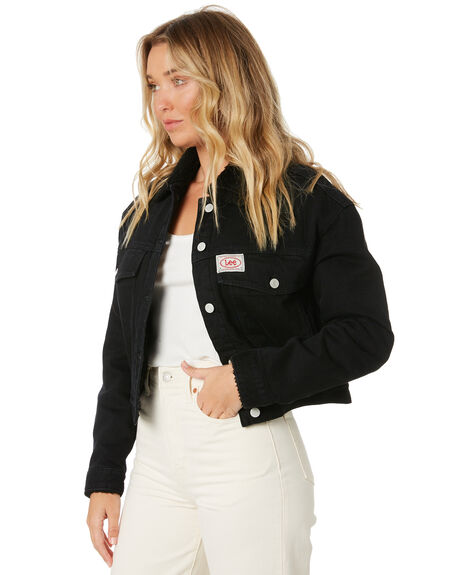 BARE BLACK WOMENS CLOTHING LEE JACKETS - L-656856-NV7BBLK