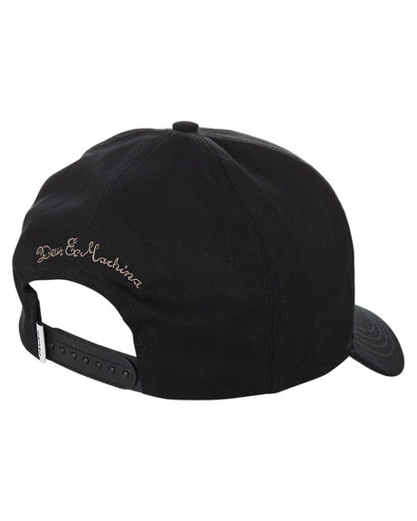 BLACK MENS ACCESSORIES DEUS EX MACHINA HEADWEAR - DMP207834BLK