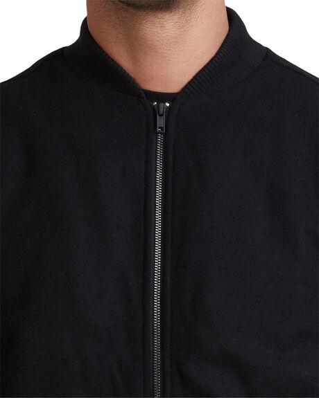 BLACK MENS CLOTHING RVCA JACKETS - R315431-RVB