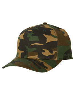 GREEN CAMO MENS ACCESSORIES FLEX FIT HEADWEAR - 161601CAMO