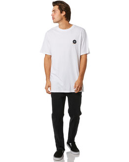 WHITE MENS CLOTHING RVCA TEES - R193057AWHT