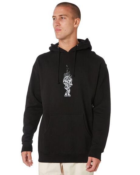 BLACK MENS CLOTHING PASS PORT JUMPERS - PPBURNPOOLHOODBLK