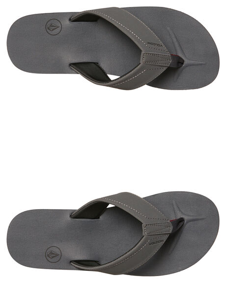 GREY VINTAGE MENS FOOTWEAR VOLCOM THONGS - V0811522GVN