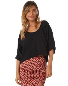 BLACK WOMENS CLOTHING TIGERLILY FASHION TOPS - T371037BLK