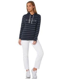NAVY WHITE STRIPE WOMENS CLOTHING ELWOOD TEES - W92108AV0