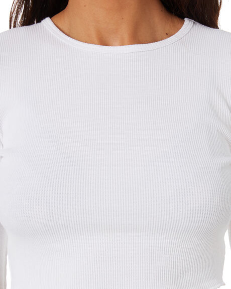 WHITE WOMENS CLOTHING NUDE LUCY TEES - NU23693WHT