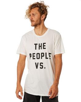 WHITE MENS CLOTHING THE PEOPLE VS TEES - MLOGO001WHT