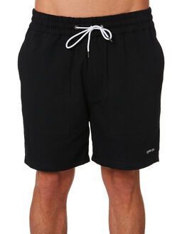BLACK MENS CLOTHING RPM SHORTS - 9PMB05ABLK