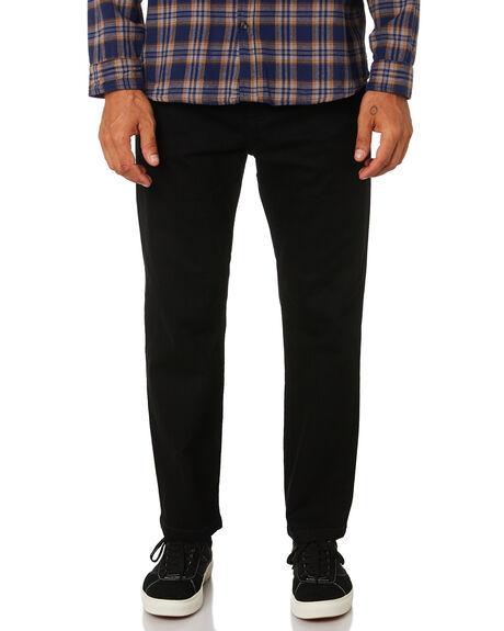 BLACK MENS CLOTHING AFENDS JEANS - M181451BLK