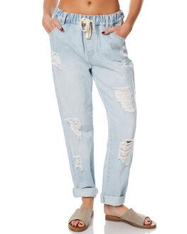 LIGHT BLUE WOMENS CLOTHING MINKPINK PANTS - MD1703930LBL
