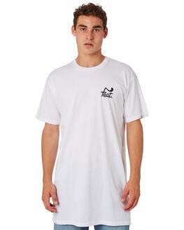 WHITE BLACK MENS CLOTHING FEAT TEES - FTTTLOG01WHTBK