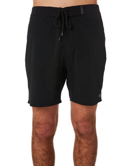 BLACK MENS CLOTHING DEUS EX MACHINA BOARDSHORTS - BDMP82555BLK