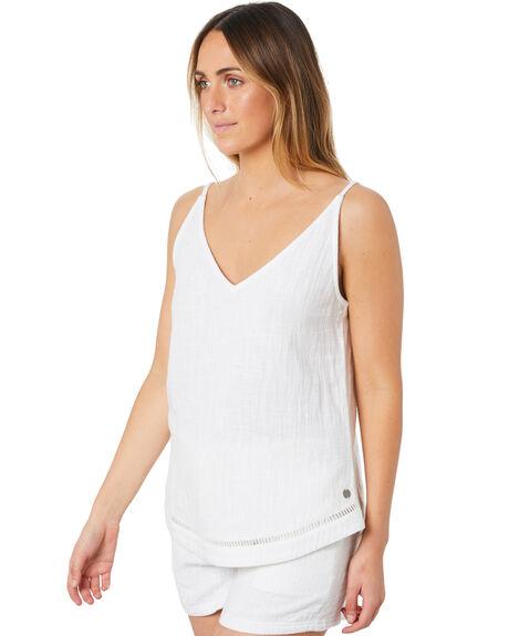 WHITE WOMENS CLOTHING RIP CURL FASHION TOPS - GSHDJ91000