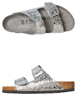 SILVER GREY WOMENS FOOTWEAR BIRKENSTOCK FASHION SANDALS - 1011912SGRY