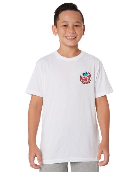 WHITE KIDS BOYS SANTA CRUZ TOPS - SC-YTA9194WHT