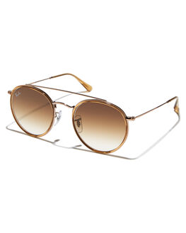 BROWN COPPER WOMENS ACCESSORIES RAY-BAN SUNGLASSES - 0RB3647NBRNC