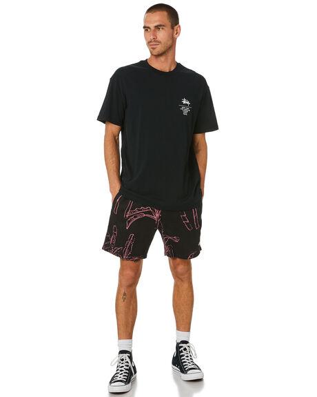 BLACK MENS CLOTHING STUSSY TEES - ST002013BLACK