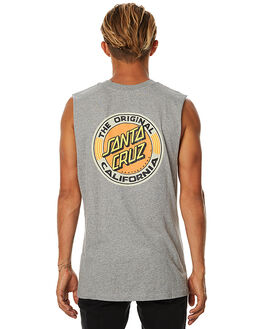 GREY HEATHER MENS CLOTHING SANTA CRUZ SINGLETS - SC-MTA7503GRYH