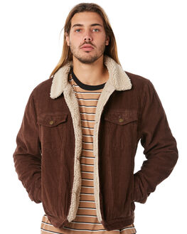 BROWN CORD MENS CLOTHING ROLLAS JACKETS - 201181886