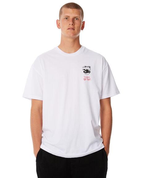 WHITE MENS CLOTHING STUSSY TEES - ST085013WHT