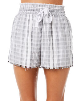 GREY STRIPE WOMENS CLOTHING ELWOOD SHORTS - W83601GRSTR
