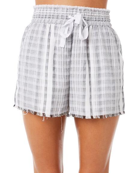 GREY STRIPE WOMENS CLOTHING ELWOOD SHORTS - W83601GRSTR