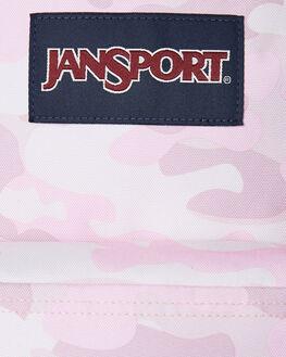 COTTON CANDY CAMO WOMENS ACCESSORIES JANSPORT BAGS + BACKPACKS - JST501-JS5Q3