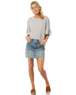 STRIPE WOMENS CLOTHING THE HIDDEN WAY FASHION TOPS - H8183001STRIP