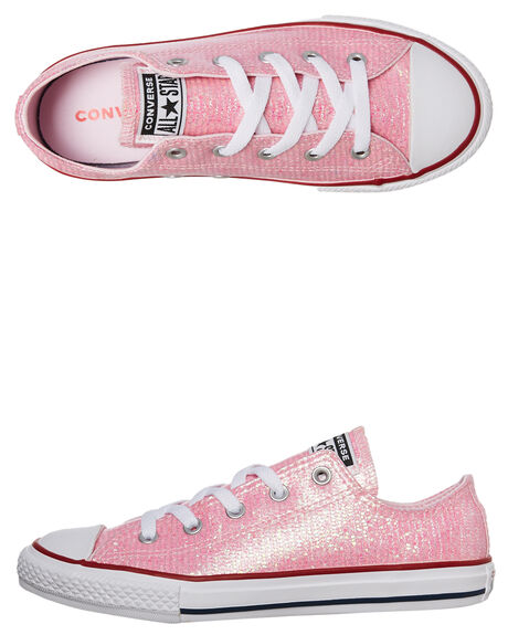 PINK KIDS GIRLS CONVERSE SNEAKERS - 663628PINK