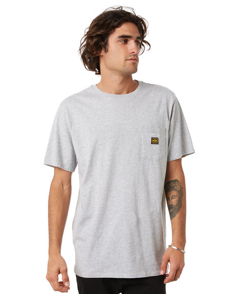 LIGHT GREY MARLE MENS CLOTHING DEPACTUS TEES - D5214001LGML