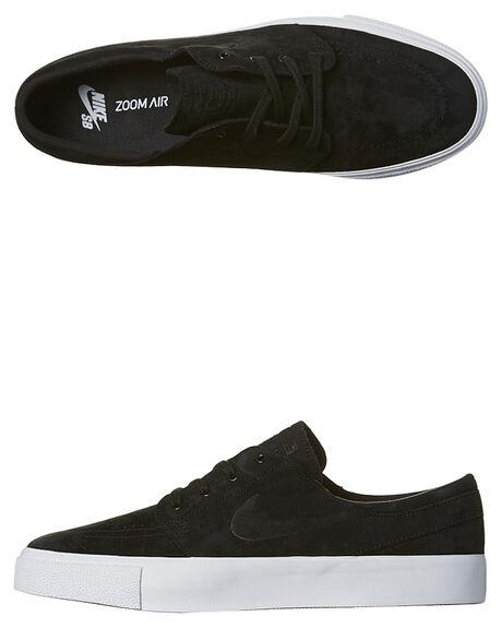 BLACK WHITE MENS FOOTWEAR NIKE SKATE SHOES - SS854321-001M
