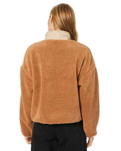 TAN WOMENS CLOTHING STUSSY JUMPERS - ST106702TAN