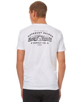 WHITE BLACK MENS CLOTHING UPPERCUT TEES - UPDTS0244WHTBK