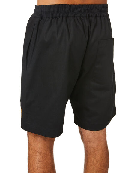 BLACK MENS CLOTHING PASS PORT SHORTS - PPWORKERSBLK