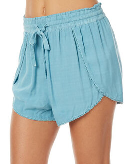 LOMBOK GREEN WOMENS CLOTHING TIGERLILY SHORTS - T375300LOM