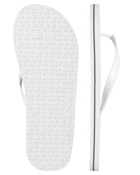WHITE MENS FOOTWEAR BILLABONG THONGS - 9685938WHT
