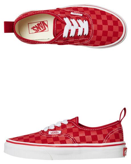 52a1a793f87c Vans Kids Authentic Elastic Lace Shoe - Tango Red