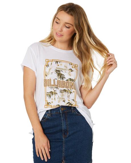 WHITE WOMENS CLOTHING BILLABONG TEES - 6595002WHT